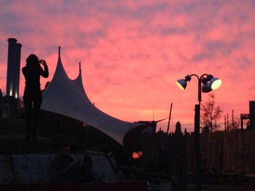 Sonnenuntergang auf dem Holzmarkt 25