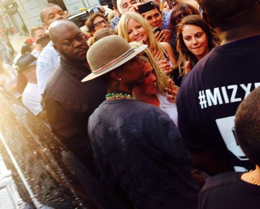 Pharell Williams at Adidas-Store Münzstrasse Berlin